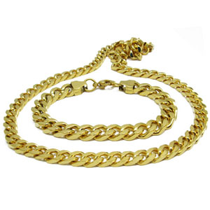 SSN0031-Fake Gold Stainless Steel Necklace