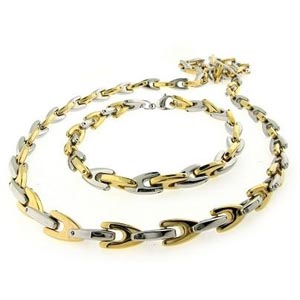 SSN0032-Fake Gold Stainless Steel Necklaces