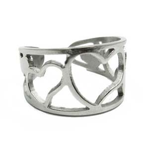 SSR0122-Stainless Steel Faced Black Ring