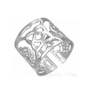 SSR0125-Faced Stainless Steel Black Rings