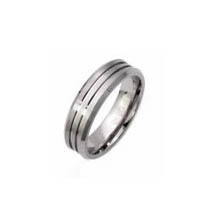 TIR0054-Polished Finished Titanium Rings