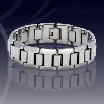 WCC0141-Polished Tungsten Wrist Chain