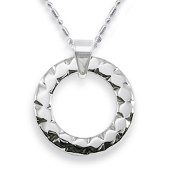 WCN0002-Polished Tungsten Necklace