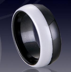 WCR0032-Black Tungsten Rings