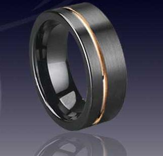 WCR0033-Black Tungsten Band