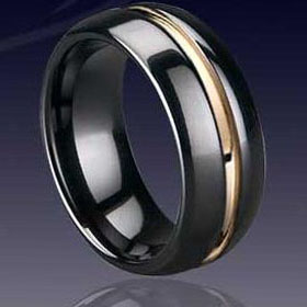 WCR0034-Black Tungsten Bands