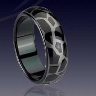 WCR0035-Black Tungsten Carbide Ring