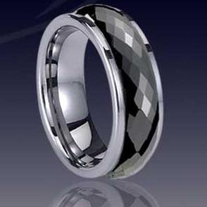 WCR0037-Black Tungsten Carbide Band
