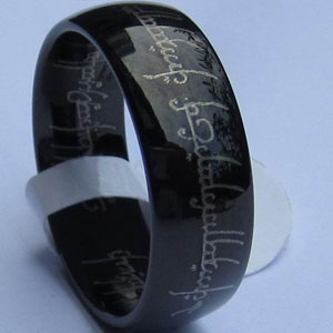 WCR0038-Black Tungsten Carbide Bands