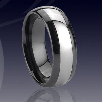 WCR0039-Black Tungsten Wedding Ring