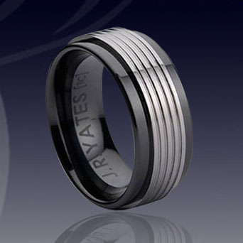 WCR0041-Black Tungsten Wedding Band