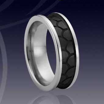 WCR0042-Black Tungsten Wedding Bands
