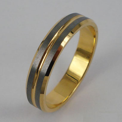 WCR0286-Gold Plating Tungsten Carbide Rings