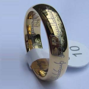 WCR0289-Gold Plated Tungsten Wedding Ring
