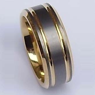 WCR0290-Gold Plated Tungsten Wedding Rings