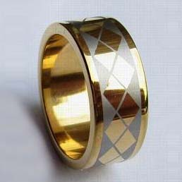 WCR0291-Gold Plated Tungsten Wedding Band