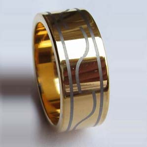 WCR0297-Tungsten Gold Ring