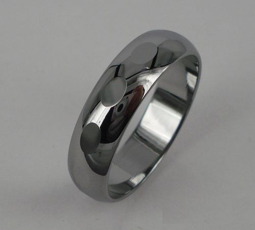 WCR0419-Polished Tungsten Ring