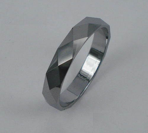 WCR0423-Polished Tungsten Wedding Ring