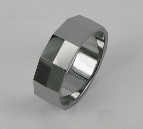 WCR0424-Polished Tungsten Wedding Rings