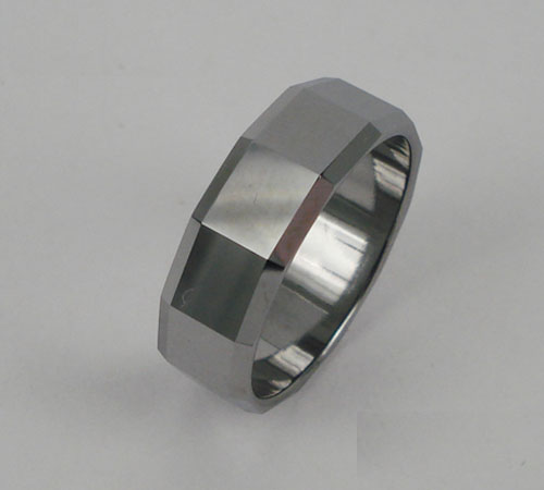 WCR0425-Polished Tungsten Wedding Band
