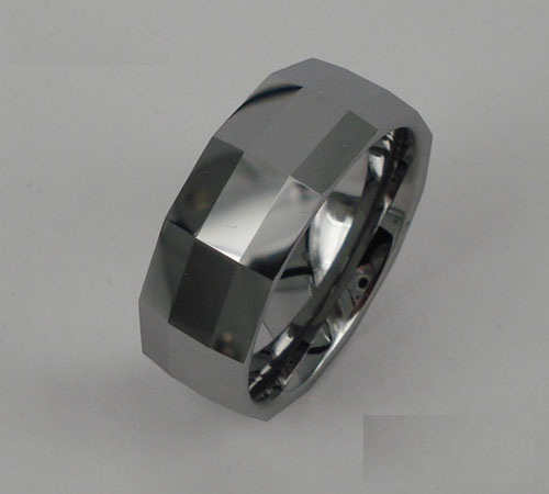 WCR0427-Polished Tungsten Carbide Wedding Ring