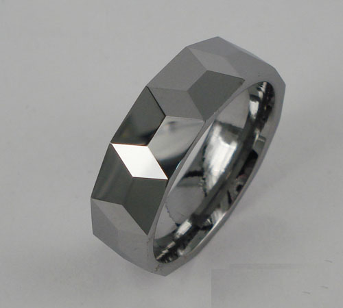 WCR0428-Polished Tungsten Carbide Wedding Rings