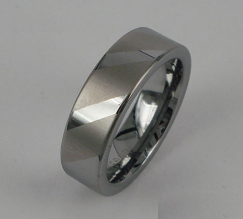 WCR0429-Polished Tungsten Carbide Wedding Band