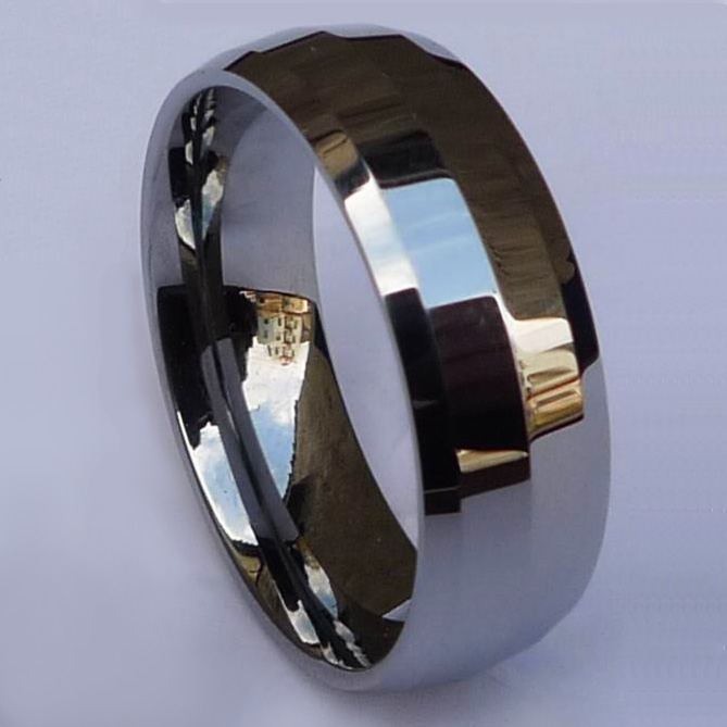 WCR0430-Polished Tungsten Carbide Wedding Bands