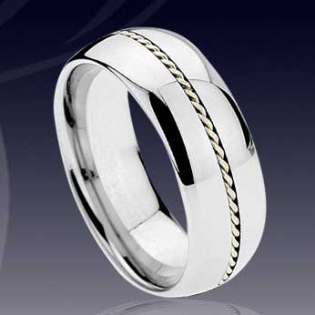 WCR0506-Shell Tungsten Wedding Rings