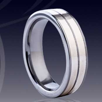 WCR0508-Shell Tungsten Wedding Bands