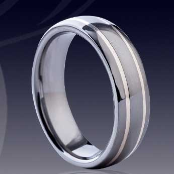 WCR0509-Shell Inlaid Tungsten Carbide Ring
