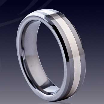 WCR0510-Shell Inlaid Tungsten Carbide Rings