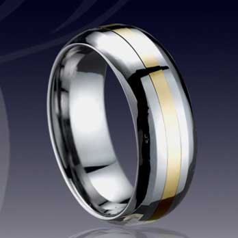 WCR0511-Shell Inlaid Tungsten Carbide Band