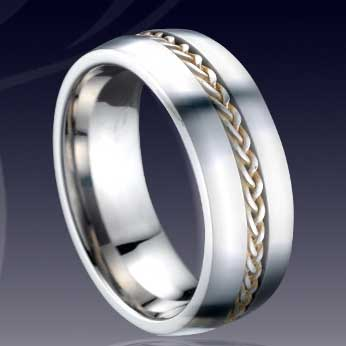 WCR0514-Shell Inlaid Tungsten Carbide Wedding Rings