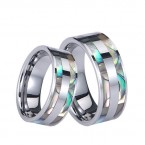 WCR0517-Shell Inlay Tungsten Carbide Ring