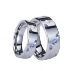 WCR0518-Shell Inlay Tungsten Carbide Rings