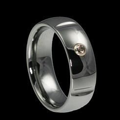 WDR0021-Tungsten Diamond Ring