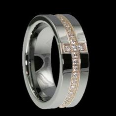 WDR0022-Tungsten Diamond Ring
