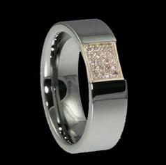 <b>WDR0023-Tungsten Diamond Ring</b>