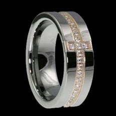 WDR0024-Tungsten Diamond Ring