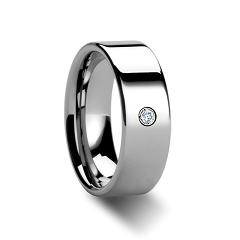 WDR0026-Tungsten Diamond Ring