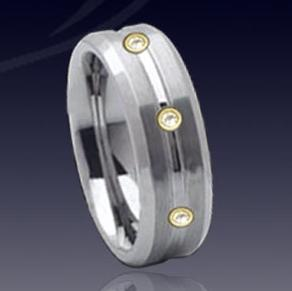 WDR0031-Tungsten Diamond Ring