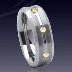 WDR0032-Tungsten Diamond Ring