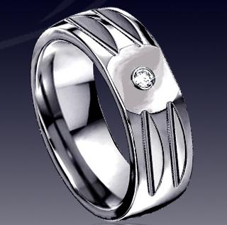 WDR0035-Tungsten Diamond Ring